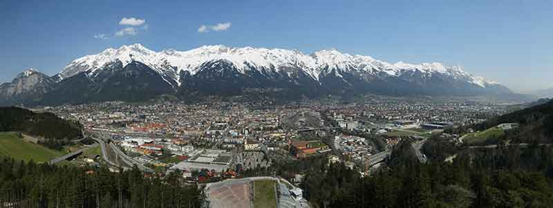 The Old Town of Innsbruck with its famous Golden Roof, Baroque churches and contemporary architecture