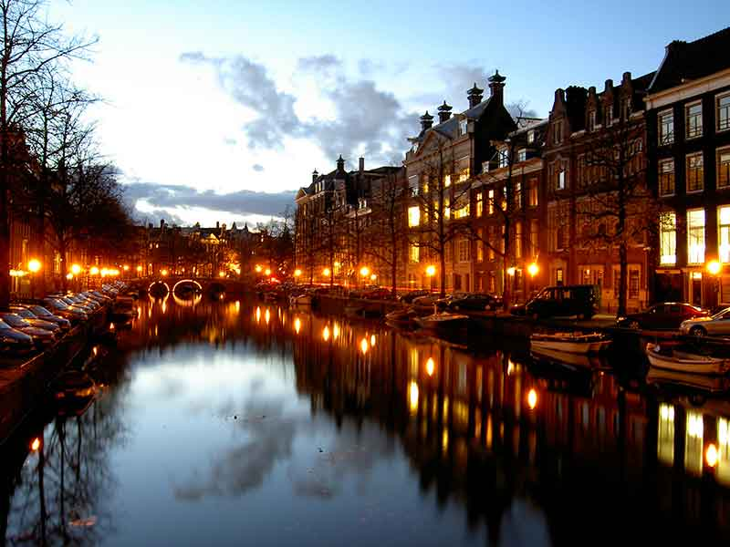Onto the tolerant city of Amsterdam - one of the greatest small cities in the world - with its fabulous canals, world-famous museums and historical sights