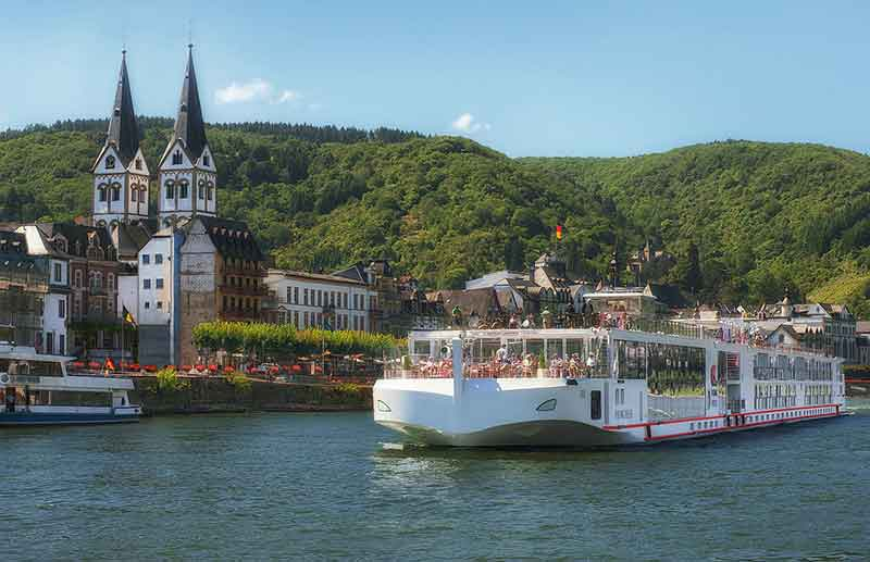 Journey the romantic Rhine Valley meandering between hillside castles and steep fields of vineyards to create a magical mixture of beauty and legend