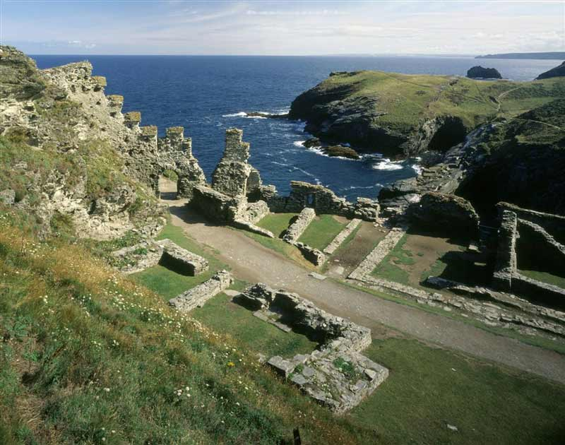 Enjoy dramatic sea views from Tintagel castle ruins