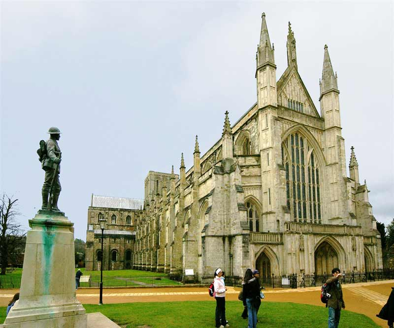 Visit Winchester Cathedral and the Great Hall, one of the finest surviving medieval halls which contains the greatest symbol of medieval mythology, King Arthur's Round Table
