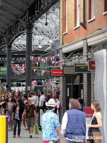 Visit Spitalfield Market, with its unique vintage and organic style,