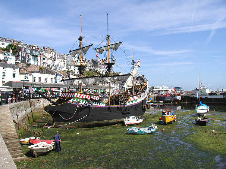 Embark on a short boat ride towards Brixham, crossing one of the most beautiful bays on the English Riviera