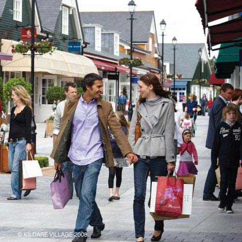 Shop at the charming open-air setting of Kildare Outlet Village offering reductions of up to 60% on luxury brands