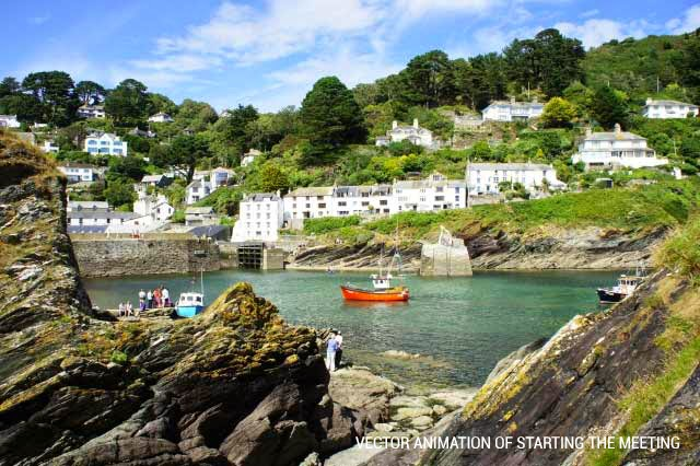 Visit Polperro, sheltered from the ravages of time and tide in its cliff ravine