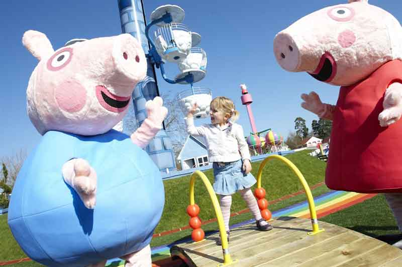 Step onto the wonderful Peppa  Pig themed rides in Peppa Pig World.