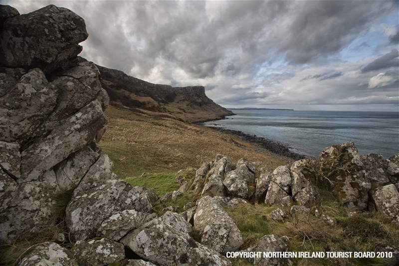 Murlough Bay - the setting for Theon's unconventional horseback ride with his sister Yara, and the scene where Davos is rescued after the Battle of Blackwater