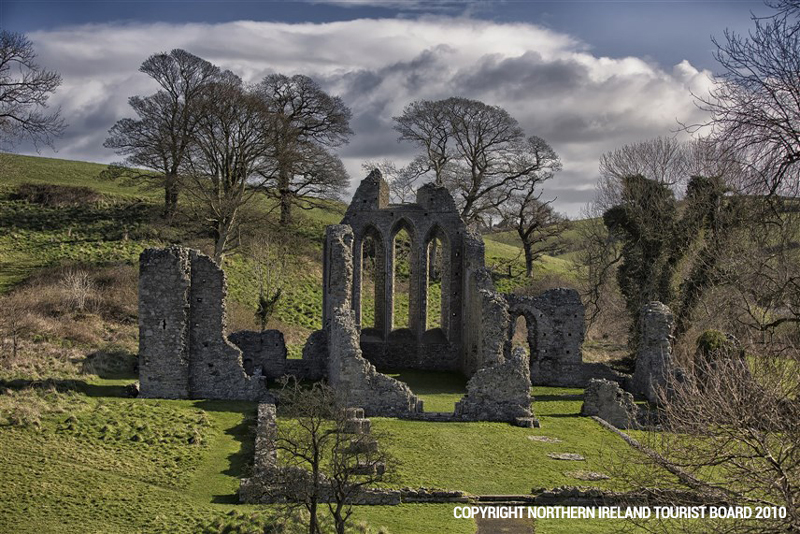 800-year old Inch Abbey - the location of some of the Game of Thrones™ most compelling moments