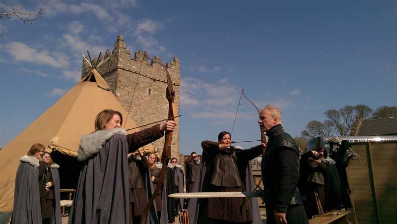 Taking aim with live arrows on the Castle Ward grounds