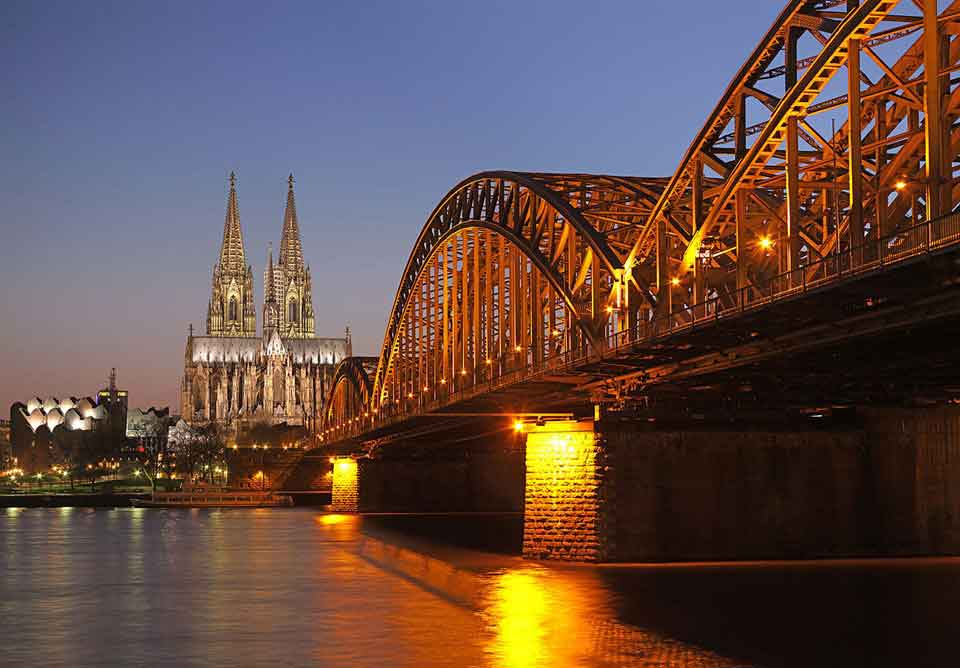 Koln - distinctive Old Town with its historical charm and its rustic narrow alleyways lined with traditional old houses, innumerable breweries, pubs and restaurants