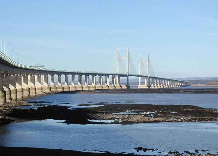 Cross the Severn Bridge from Wales into England