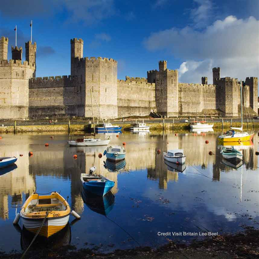 See Caernarfon, the most famous castle in Wales