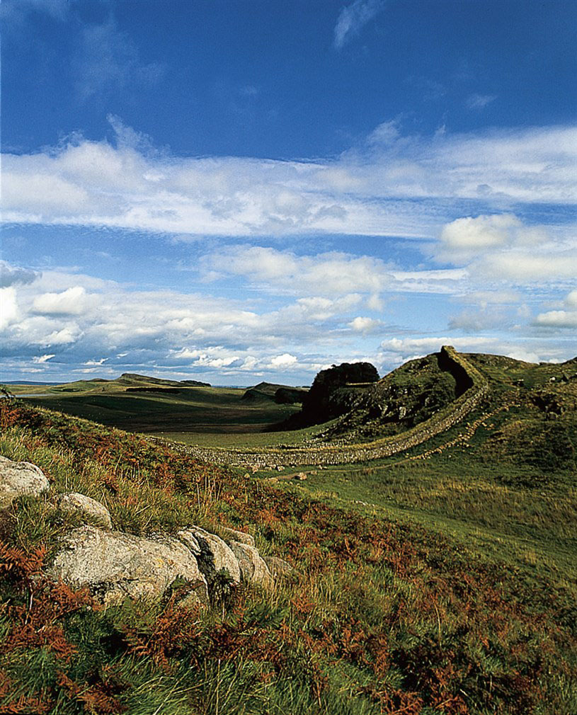 Marvel at Hadrian's wall, Britain's greatest Roman monument which epitomises Roman power in Britain