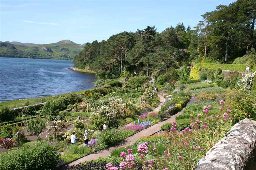 Botanical gardens of Inverewe - a lush, sub-tropical-style, oasis perched on a peninsula at the edge of Loch Ewe