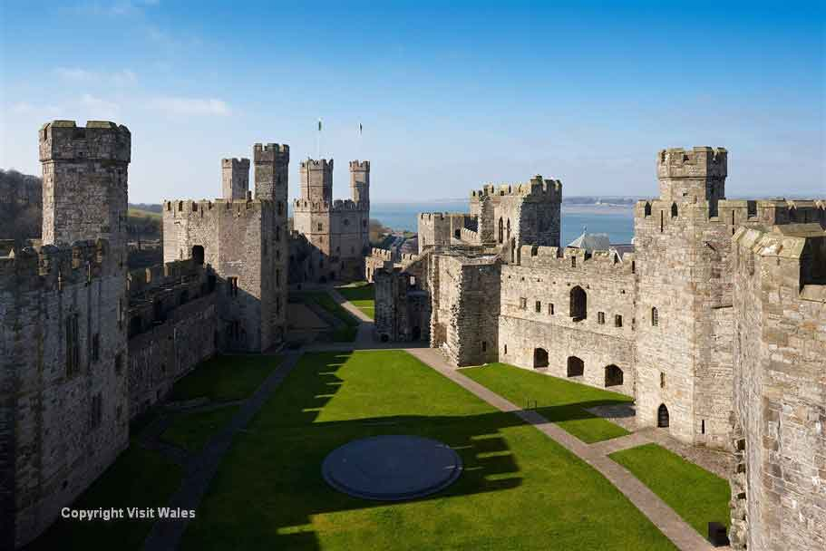 Admire Caernarfon, home to the most famous castle in Wales