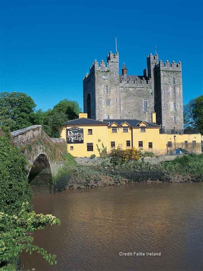 Travel  to Limerick and visit Bunratty Castle & Folk park