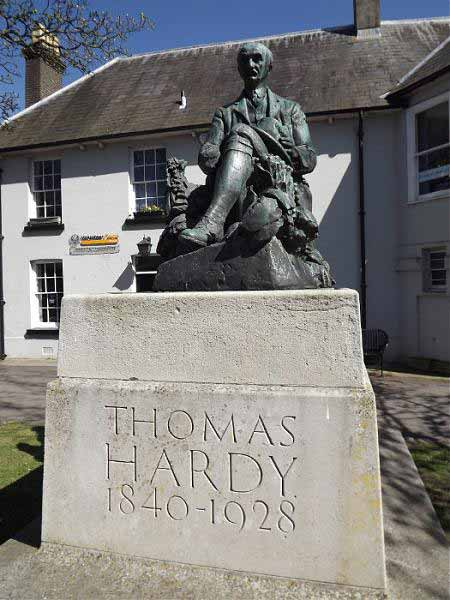 See sites which feature in Far from the Madding Crowd, The Trumpet-Major and Under the Greenwood Tree and the Hardy memorial statue.