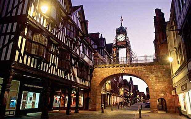 Overnight in the historic town of Chester