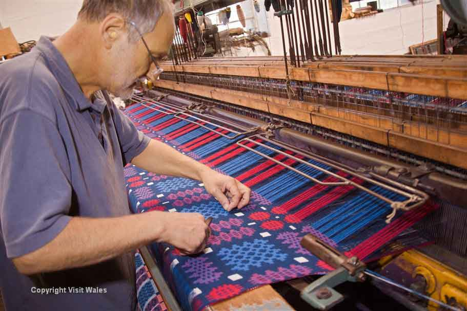 Learn about tapestry making at Trefriw Woollen Mills