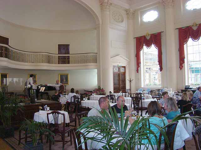 Take afternoon tea in The Pump Rooms, one of the Bath's most elegant places to enjoy stylish, Modern-British cuisine