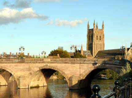Visit the historic city  of Worcester and the Cathedral