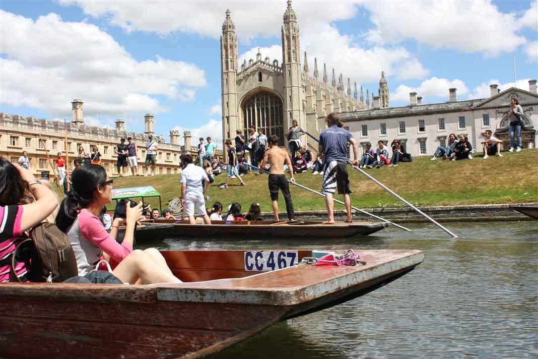 Tour the university town of Cambridge