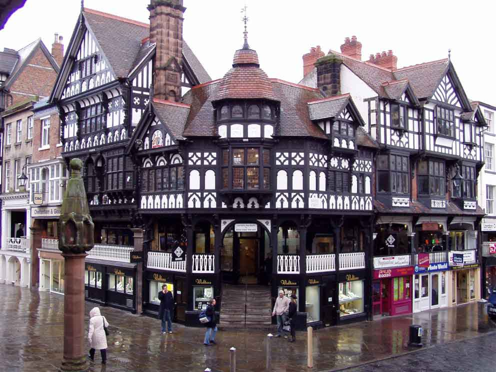visit  the historic town of Chester on the river Dee and which is arguably the richest city in Britain for archaeological and architectural treasures