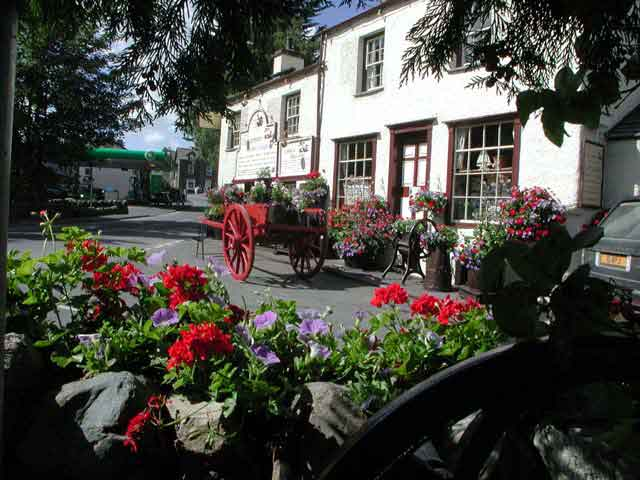 Coniston village - located underneath the majestic Coniston Fells