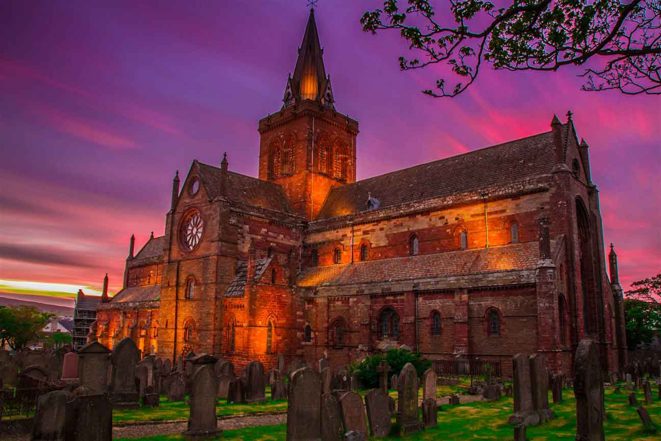 St Magnus Cathedral - widely considered the finest medieval building in the north of Scotland