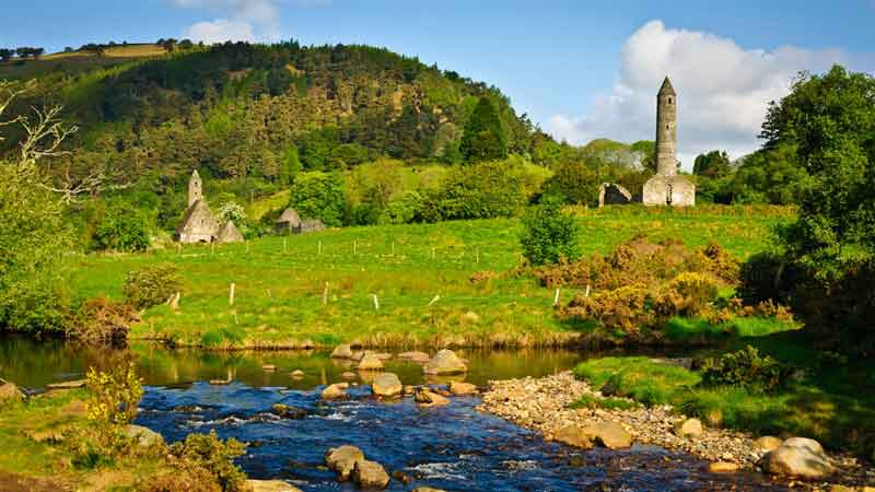 Wicklow - an early Christian monastic site founded by St. Kevin in the 6th century