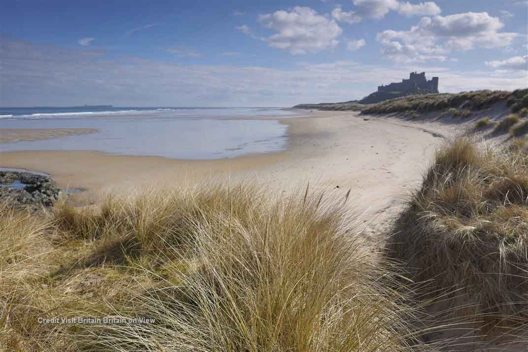 Take in the rugged coastlines of northern England