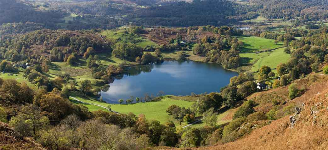 Walk to Loughrigg Terrace one of Wainwrights favourite spots