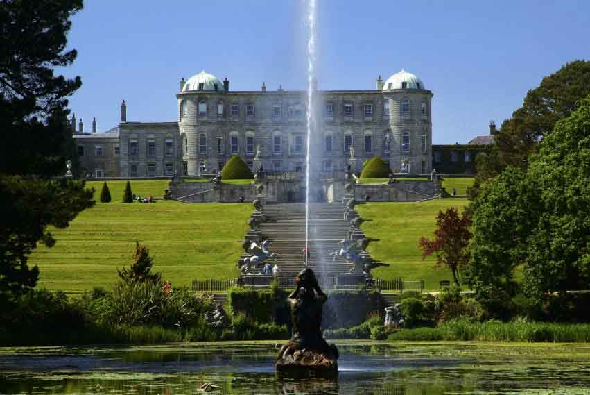 Powerscourt House and Gardens in Enniskerry - a sublime blend of formal gardens, sweeping terraces and ornamental lakes