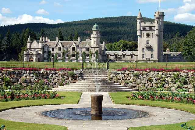 Balmoral Castle, - favourite holiday residence for The Queen