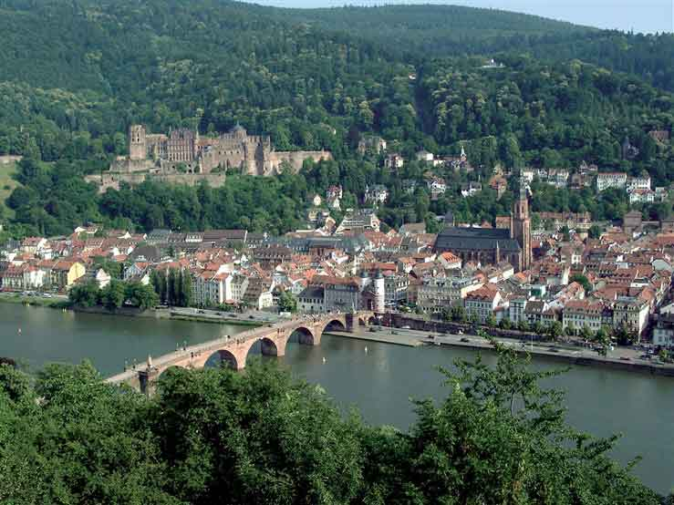 University town of Heidelberg with its ancient castle
