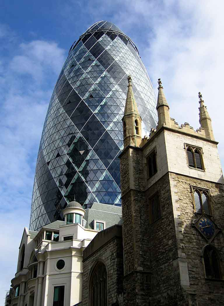 30 St Mary Axe - the Gherkin (Foster and partners)