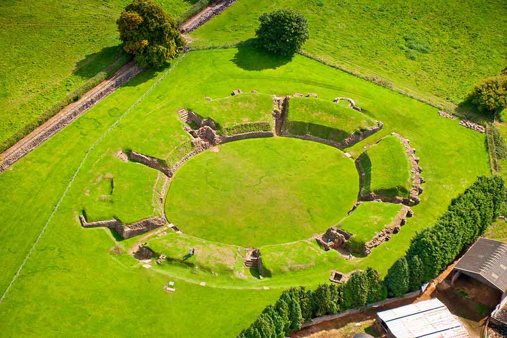 Visit Caerleon in Wales, the site of one of Britain's three permanent Roman Legionary Fortresses