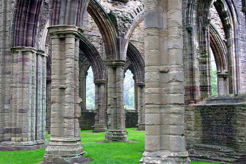 See Cistercian Abbey of Tintern, one of the greatest monastic ruins of Wales
