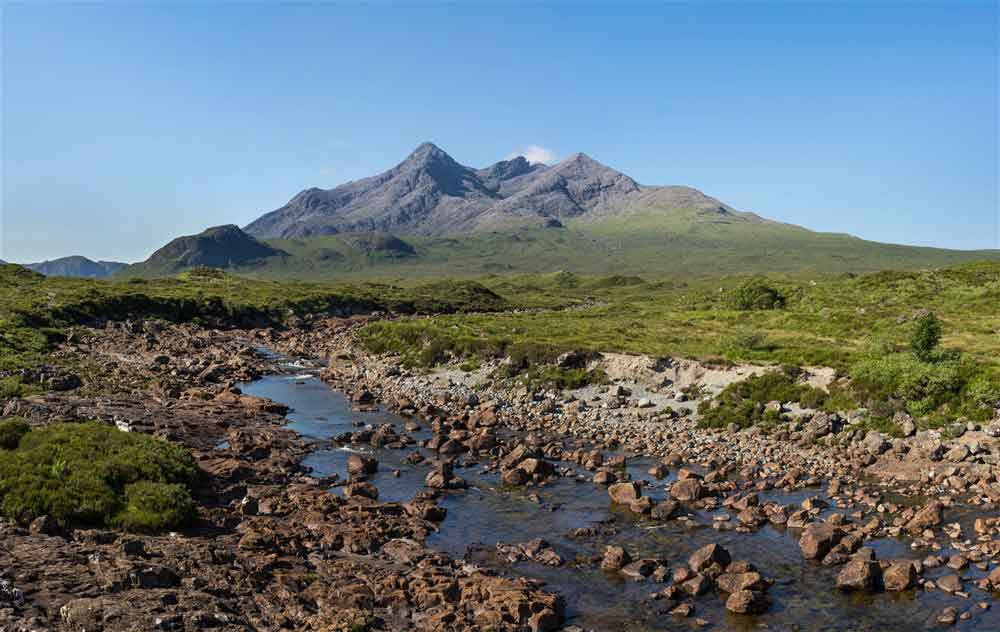 Marvel at the stark rise of the jagged Cuillin ridge