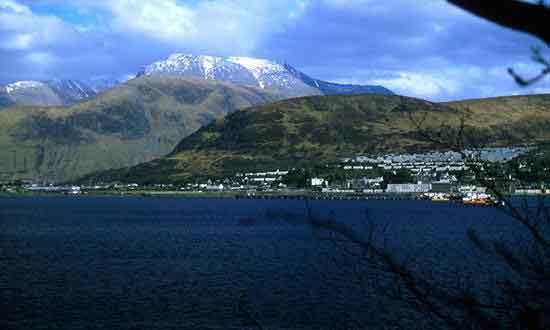 Stop in Fort William to admire Ben Nevis mountain