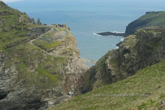 Enjoy dramatic sea views from Tintagel castle ruins