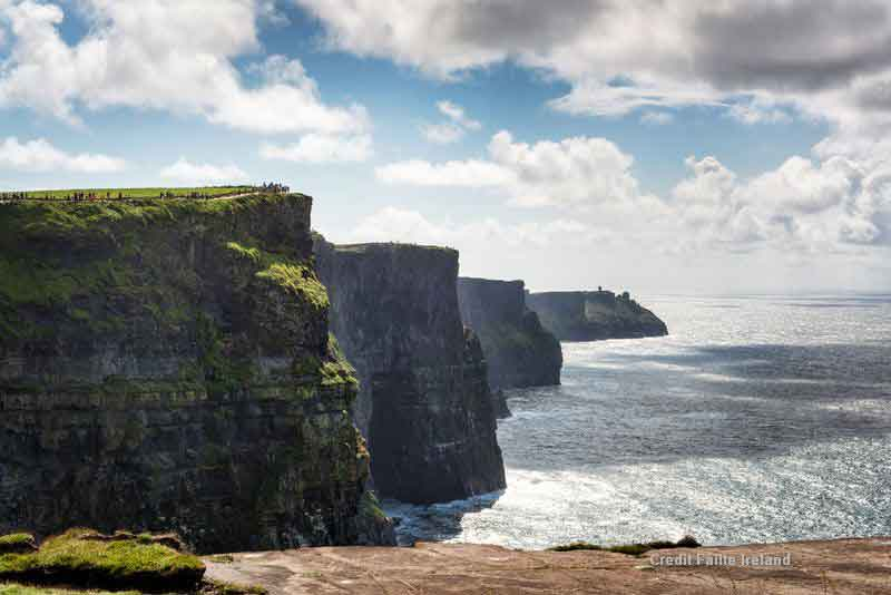 Take in the stunning views at the Cliffs of Moher