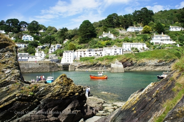 Marvel Polperro, a village which has been sheltered from the ravages of time