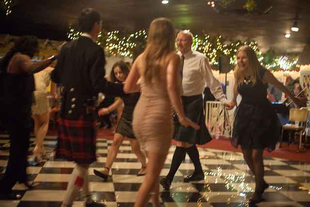 Participate in a Scottish cèilidh