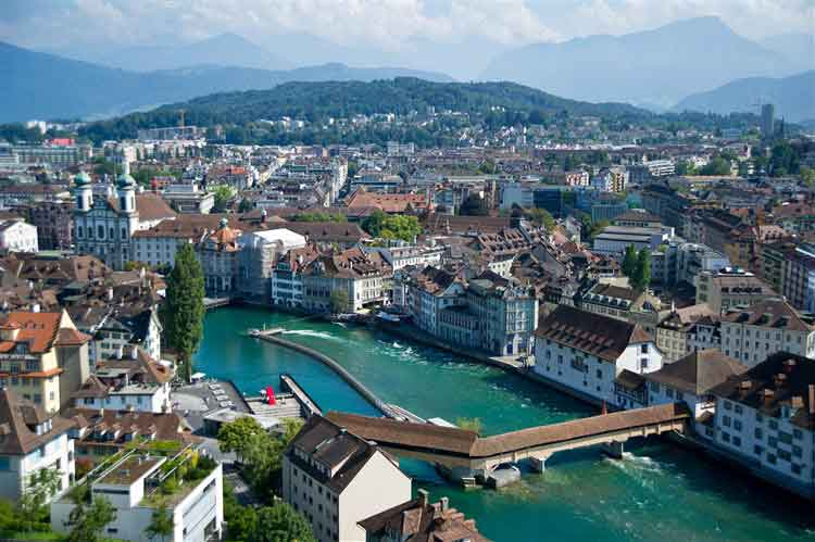 Switzerland and Lucerne - embedded within an impressive mountainous panorama