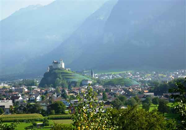 The small state of Liechtenstein and into the Austrian Tyrol and its overwhelming beauty of mountain peaks that rise more than 3,000 meters above sea level