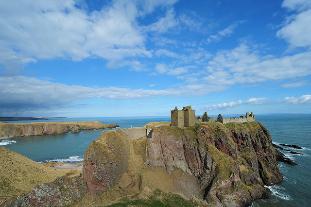 Castle of Dunottar - an evocative ruined cliff top fortress