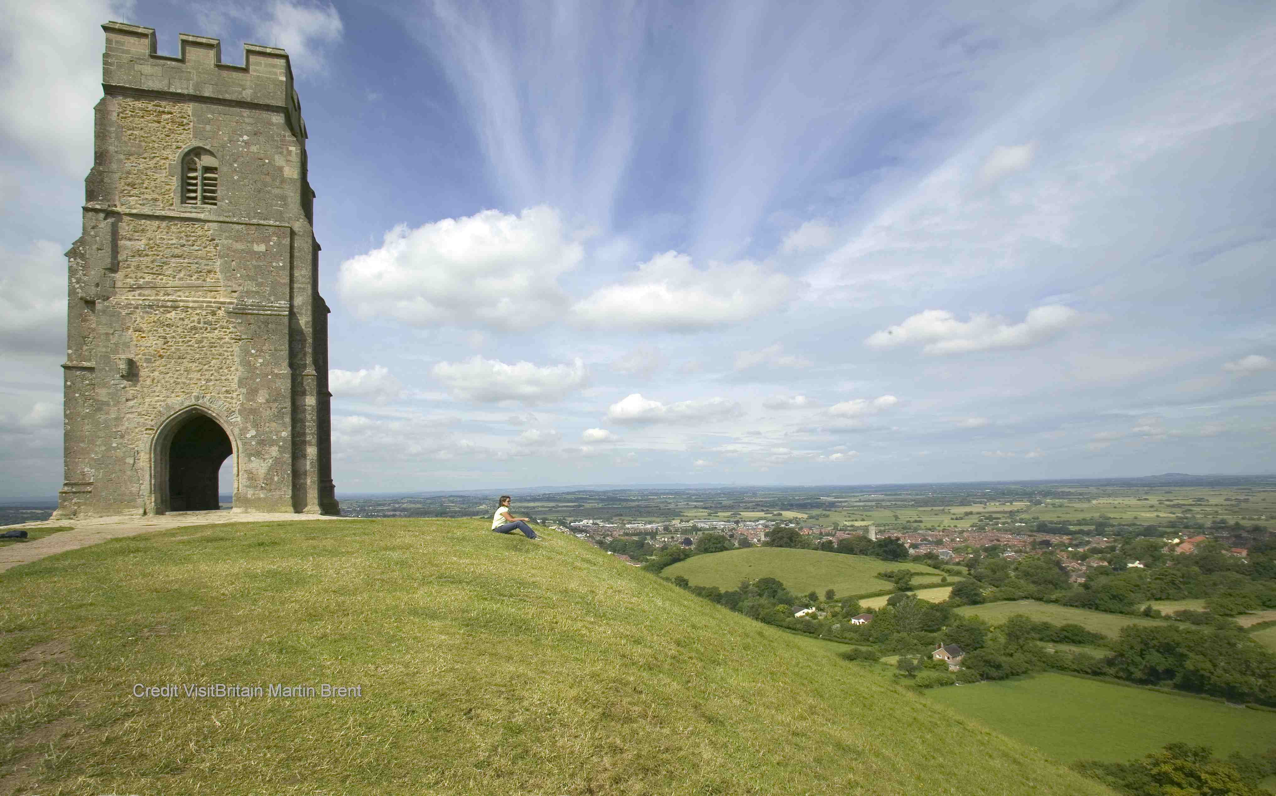 Visit Glastonbury where the legendry remains of King Arthur and Guiniviere are laid