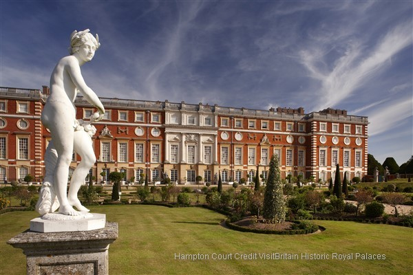 Admire Hampton Court Palace and Gardens, which is set in 1,000 acres and houses many works of art and furnishings from the Royal Collection