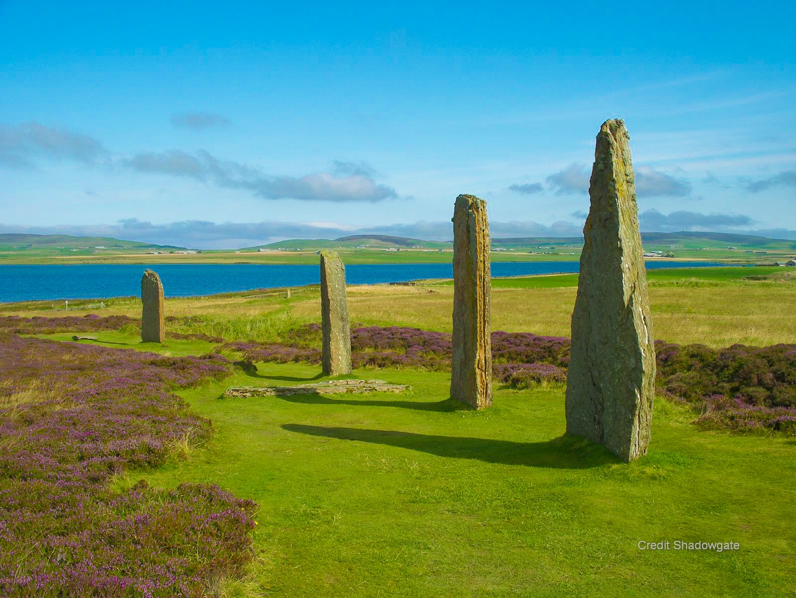 Standing Stones of Stenness and The Ring of Brodgar comprising a massive ceremonial enclosure